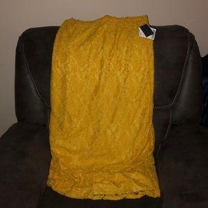 Long yellow skirt brand new